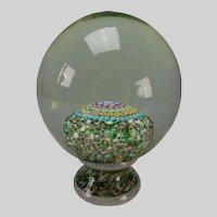 Italian Piedouche Millifiori Newel Post Pedestal Glass Paperweight 1848
