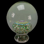 Antique Italian Millifiori Newel Post Glass Paperweight in Style of St Louis 1848