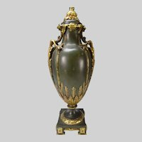 Empire French Bronze Gilt Table Lamp Neoclassical