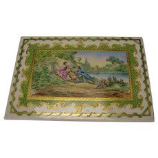 Great Antique Limoges French Hand Painted Porcelain Plaque Plate