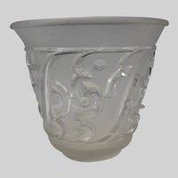 Antique Art Deco Edvin Ollers Swedish Pressed Glass Vase Elme Glasbruk