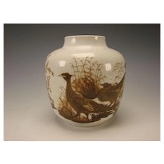 Large Royal Copenhagen Nils Thorsson Faience Danish Porcelain/Pottery Vase