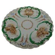 Antique Baby Cherub Angels Decorated Porcelain Plate c1900