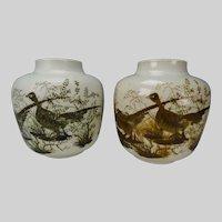 Vintage 60s Royal Copenhagen Nils Thorssen Pair of Pottery Vases