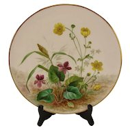 Antique Minton English Hand Painted Aesthetic Victorian era Porcelain China Plate Very FINE! 19c