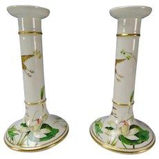 Antique Minton Porcelain China Aesthetic Candlesticks c1870