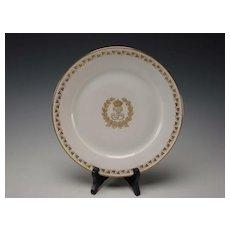 Antique Sevres King Louis Philippe Service Plate Gilt Monogram White Gold