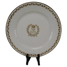 Antique Sevres Porcelain King Louis Philippe Dinner Plate