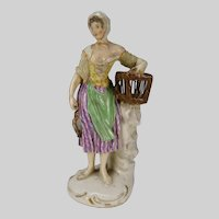 Antique c1800 German Porcelain Figurine AF