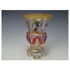 Beidermeier Egermann Glass Enamel Chinese Jugglers Carnival Acrobats c1830s