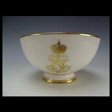 Antique Sevres Napoleon III Porcelain China Bowl c1867 Signed Dated