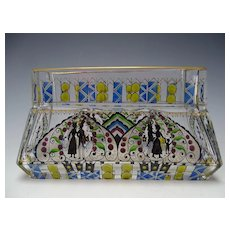 Secessionist Haida Hand Painted Enamel Glass Window Box