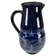 Antique Austrian German Pottery Pitcher Jug Bauhaus Design