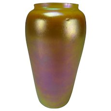 Antique Durand Favrile Iridescent Art Glass Vase Signed