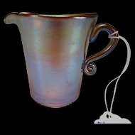 Antique Kew Blas Iridescent Glass Creamer