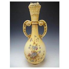 "HUGE Antique RTSK Stellmacher Art Nouveau Amphora Vase 21"""