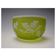 Antique Stourbridge Webb English Carved Cameo Glass Bowl