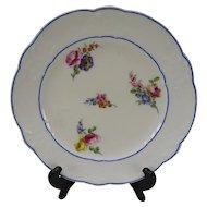 18c Antique Sevres Porcelain Floral Plate Authentic