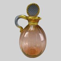 c1920 Daum Nancy Fine French Ribbed Glass Decanter Jug
