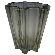 Modernist c1960 Tapio Wirkkala Art Glass Vase Iittala