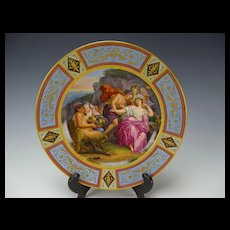 Royal Vienna Antique c1816 Dated Signed Hand Painted Porcelain Plate