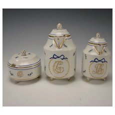 Antique Royal Vienna Imperial Porcelain China Set Pitcher Creamer Sugar Box