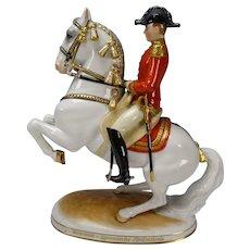 Fine Augarten Wien Vienna Levade Porcelain Horse Rider Figurine AF