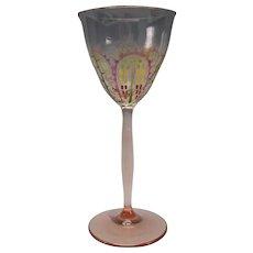 Art Nouveau Theresienthal Stangelglas Enamel Gilt Wine Glass Stem