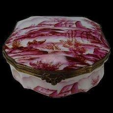 Antique French Porcelain Le Tallec Limoges Hand Painted Jewelry Box