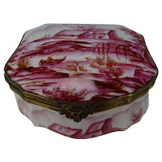 Fine French Porcelain Limoges Hand Painted Jewelry Box