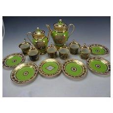 Antique Royal Vienna Porcelain c1825 Coffee Tea Pot Cup Saucer China SET Authentic