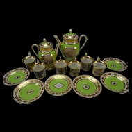 Antique Royal Vienna Porcelain c1825 Coffee Tea Pot Cup Saucer China SET Authentic