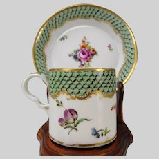 Antique Vienna Prag Porcelain Cup and Saucer Turkish Oriental Market