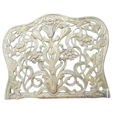 Ornate Art Nouveau Gilt Brass Bookend