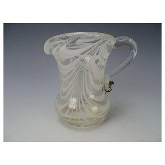 Antique South Jersey Loop Art Glass Creamer