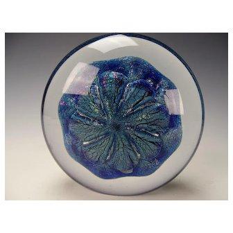 1994 Eickholt Signed Art Glass Iridescent Glass Sculpture Paperweight