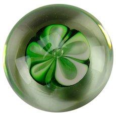 Charles Wright Fine Modern Studio Art Glass Ribbon Paperweight