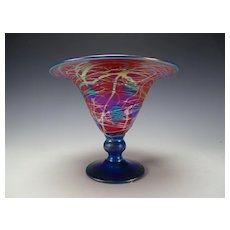 Great Carl Radke Iridescent Heart and Vine Glass Vase