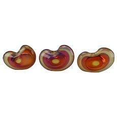 Charles Wright Multi Cased Sommerso 1996 Art Glass Vase Set