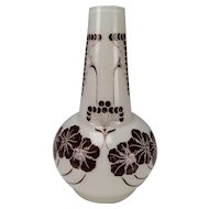 Art Nouveau Jugendstil Bohemian Riedel Cameo Art Glass Vase