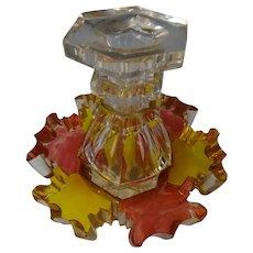 Antique Biedermeier Egermann Cut Glass Perfume Cologne Bottle c1830