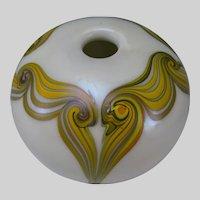 Early Stephen Fellerman Iridescent Studio Art Glass Vase c1975