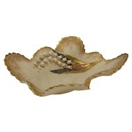 Antique English or Irish China Porcelain Derby Gilt Bowl Tray