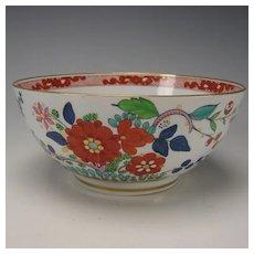 Antique English FBB Worcester Pearlware China Enamel Bowl c1790