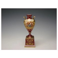 Antique Royal Vienna Dresden Austrian Hand Painted Porcelain Vase