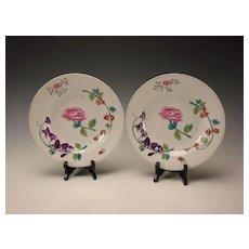 Antique Herend Porcelain Porzellan China Bowl Soup Plate Pair 19c