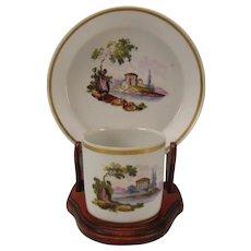 Antique Schlaggenwald LIPPERT & HAAS German Porcelain Cup Saucer 18c/19c
