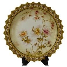 Antique c1885 Doulton Burslem Porcelain Hand Painted Plate