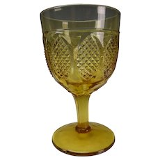 Antique Richards & Hartley Glass EAPG Oval Panels Goblet