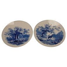Antique Villeroy and Boch German Pottery Plates Chargers Black Forest